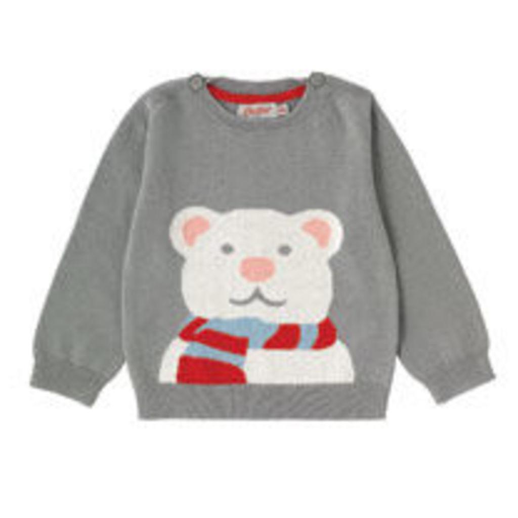 Polar Bear Baby Knitted Jumper