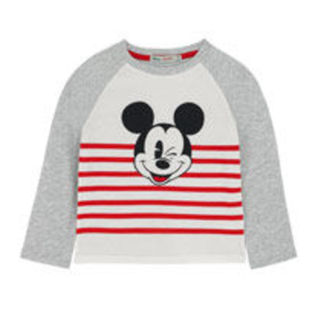 Mickey Stripe Long Sleeved Top