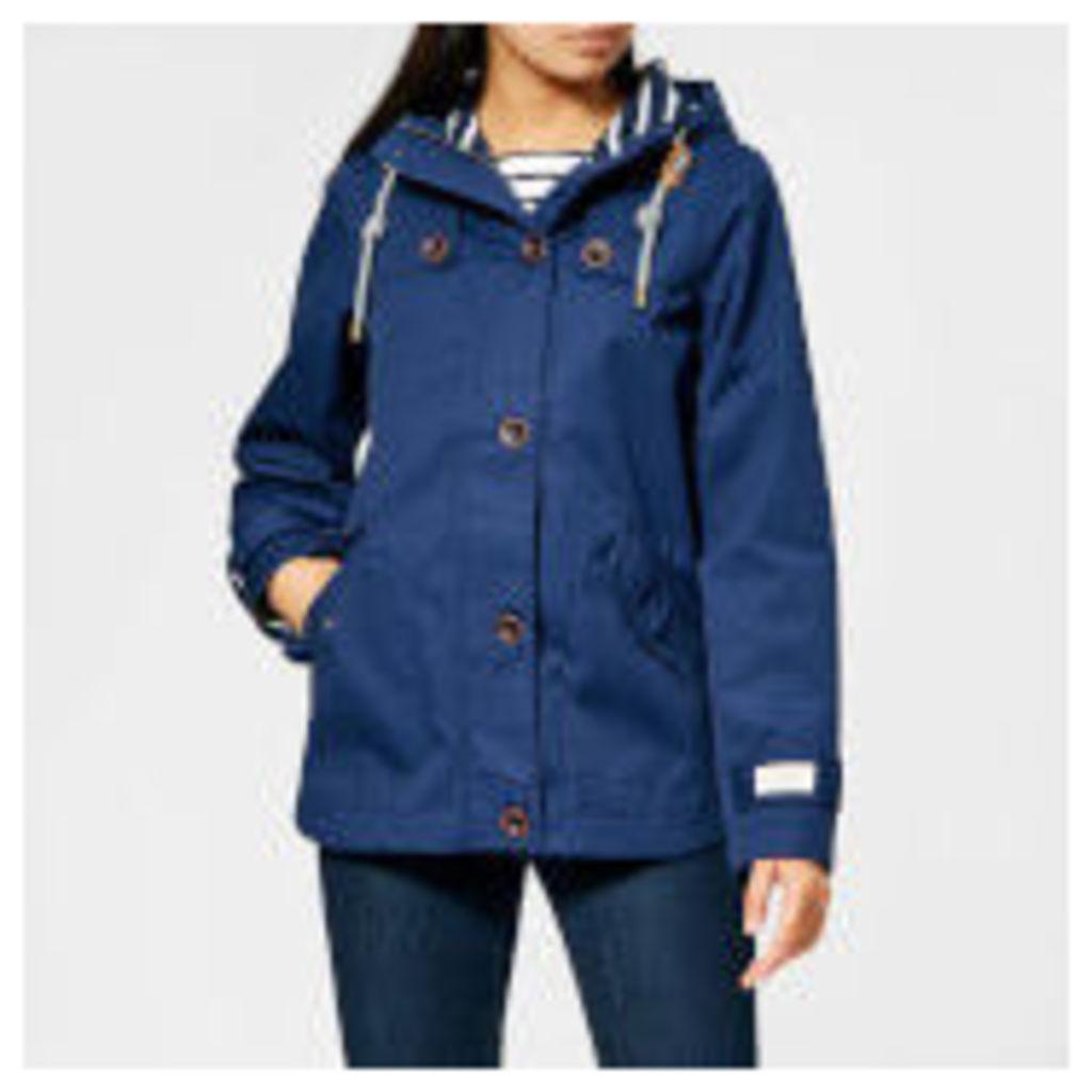 Joules Women's Coast Waterproof Hooded Jacket - French Navy - UK 12 - Navy