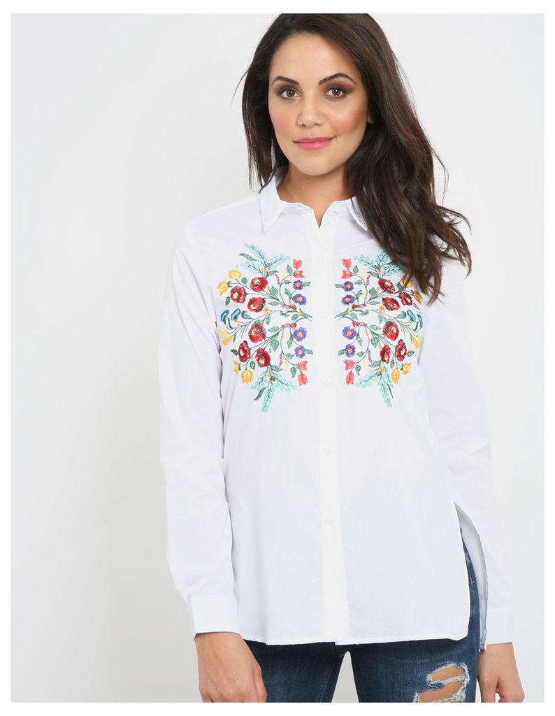 ELLE - Mirror Embroidery Shirt White