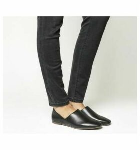 Vagabond Ayden Step Down Flats BLACK LEATHER