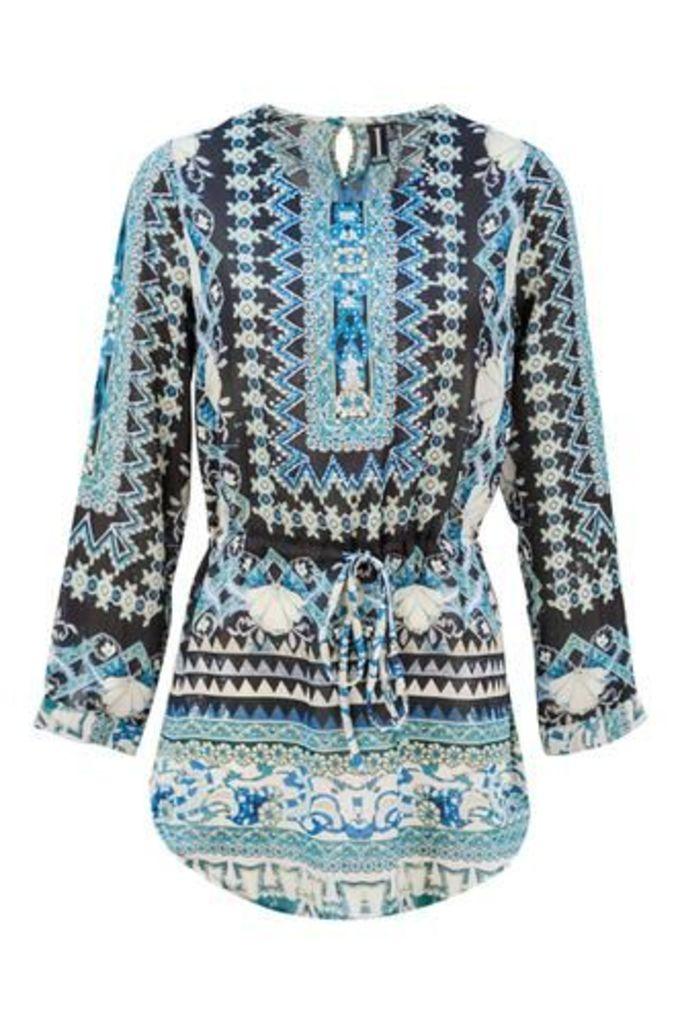 Embellished Tunic Dress