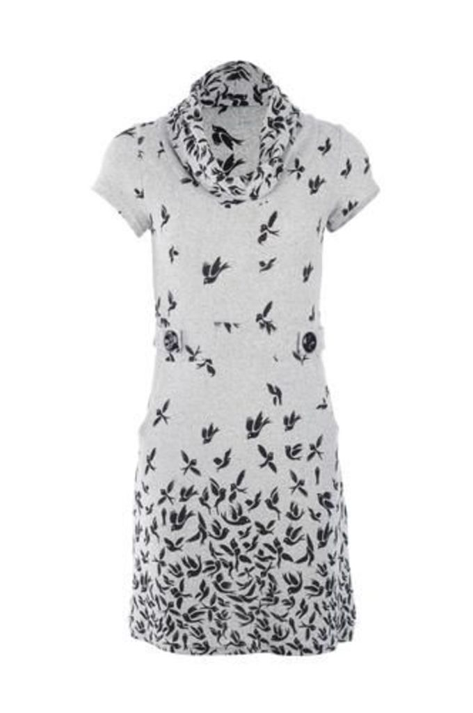 Bird Print Tunic Dress