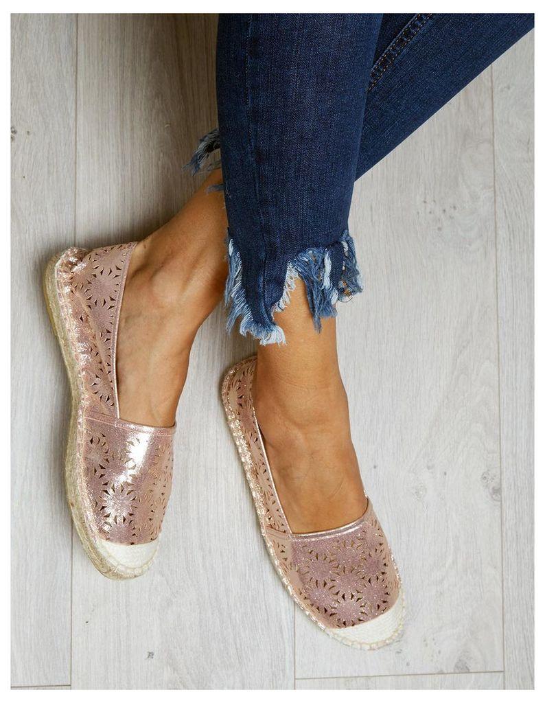 FERGIE - Cut Out Glitter Pink Plimsolls
