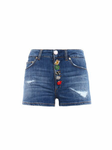 Dondup Decorative Buttoned Shorts