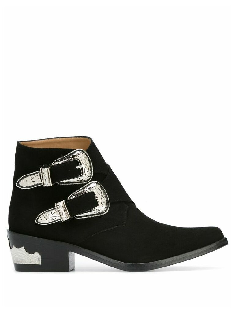 Toga Pulla double buckle boots - Black