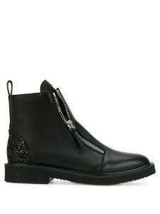 Giuseppe Zanotti Kat glitter panel boots - Black