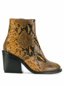 Clergerie Mayan snake-skin effect boots - Brown