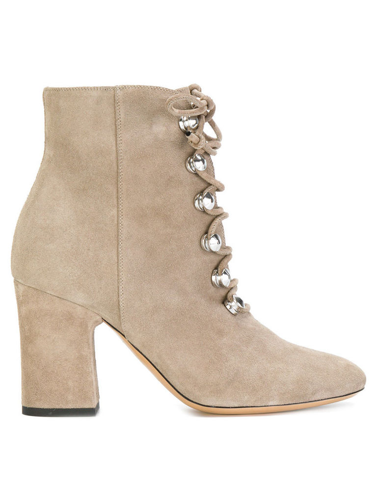 Deimille lace-up boots - Nude & Neutrals