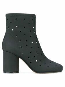 Maison Margiela hole punch mid-heel ankle boots - Black