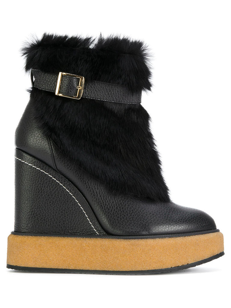 Paloma Barceló wedge ankle boots - Black