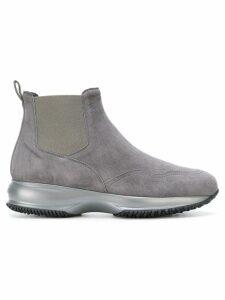 Hogan low heel boots - Grey