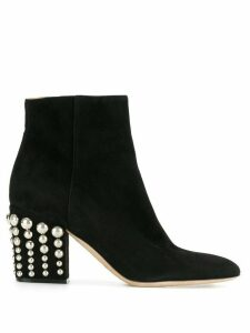 Sergio Rossi studded heel ankle boots - Black