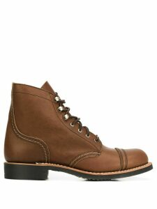 Red Wing Shoes lace up ankle boots - Brown