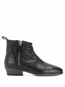 Golden Goose stitching detail boots - Black
