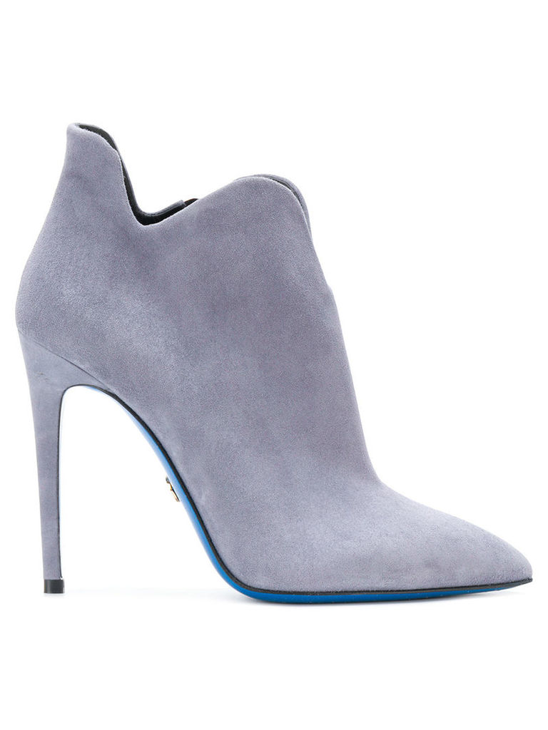 Loriblu pointed toe ankle boots - Grey