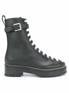 Sergio Rossi contrasting lace-up boots - Black