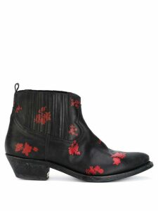 Golden Goose floral detail boots - Black