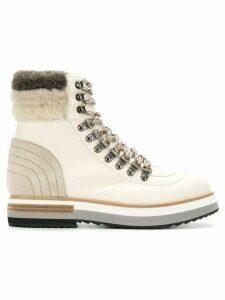Fabi faux shearling trim boots - Neutrals