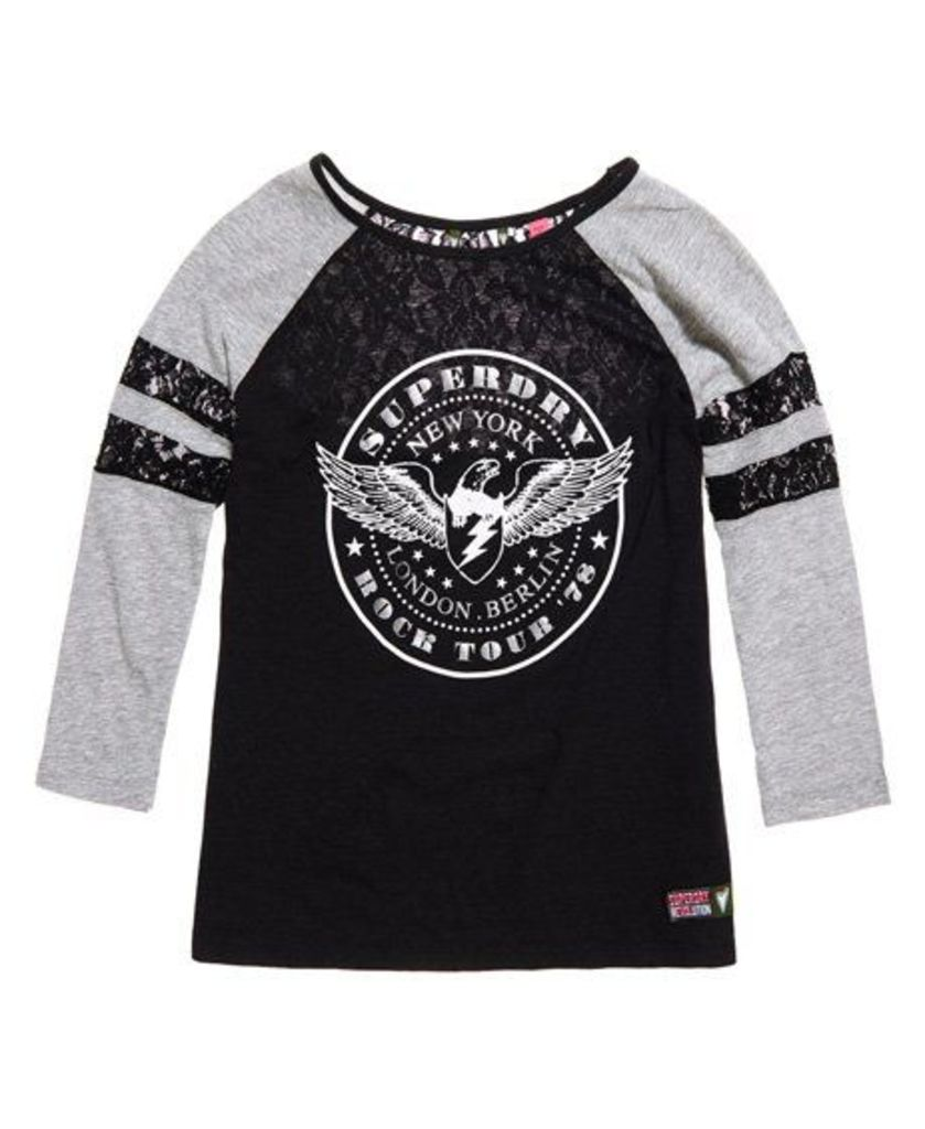 Superdry Lace Insert Baseball Top