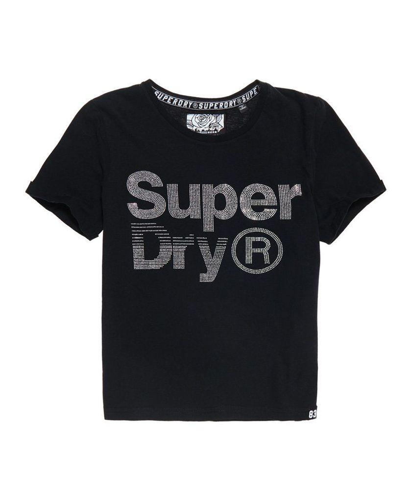 Superdry Rhinestone Boxy T-Shirt