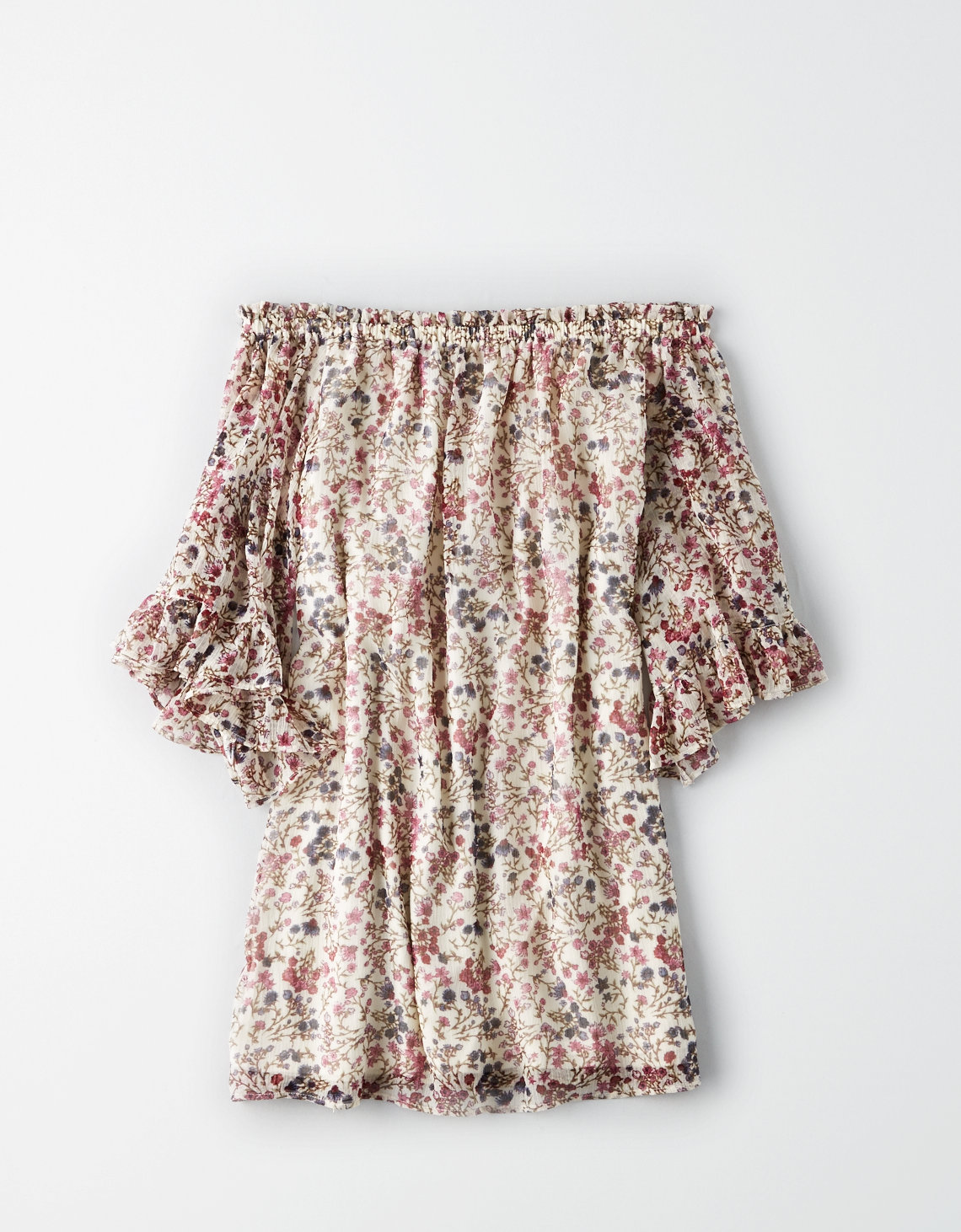 AE OFF-THE-SHOULDER SHIFT DRESS