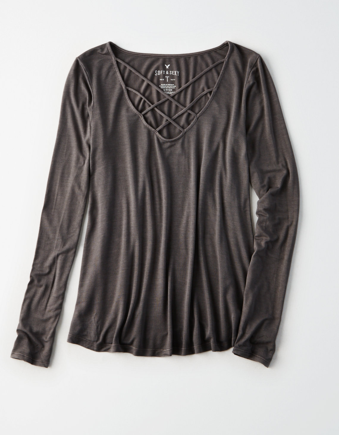 AE SOFT & SEXY CAGE FRONT T-SHIRT