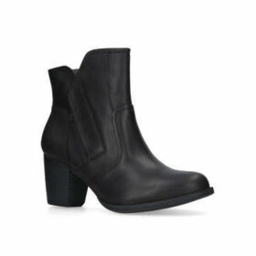 Womens Black Leather Ankle Bootscaterpillar, 3 UK
