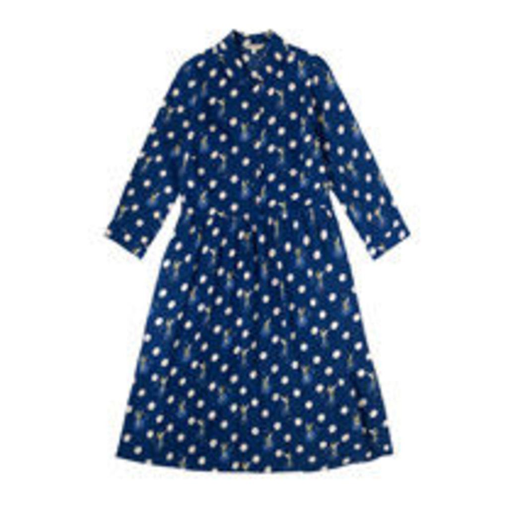 Tinker Bell Button Spot Crepe Dress