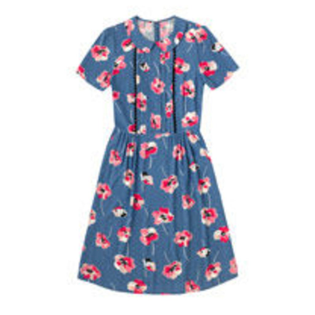 Poppy Spot Viscose Dress