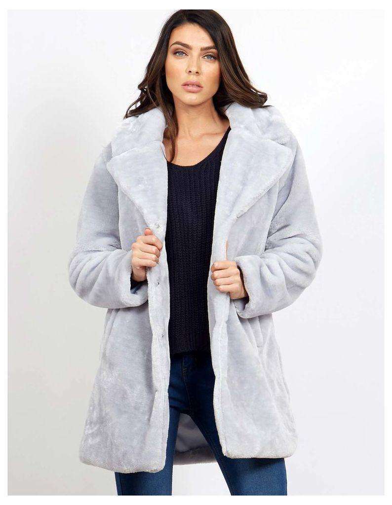 DARU - Powder Teddy Fur Coat