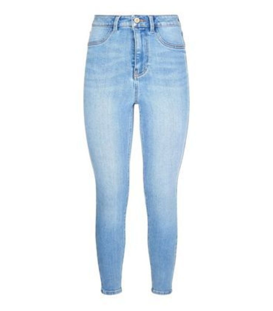 Blue High Waist Super Skinny Hallie Jeans New Look
