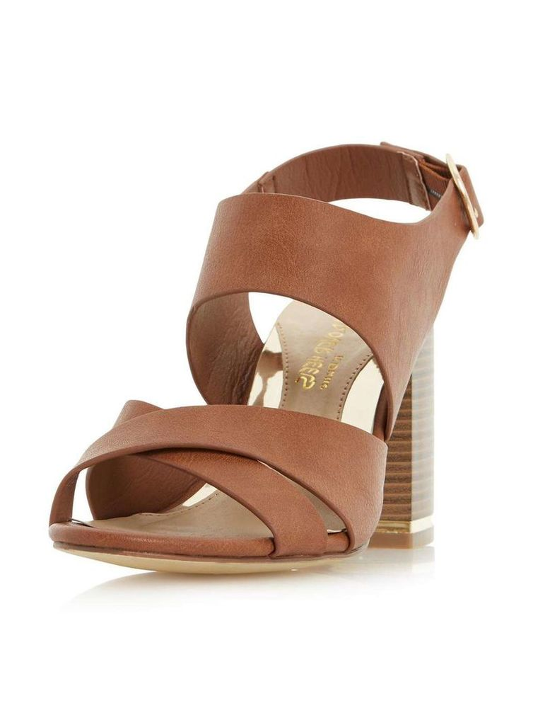 Womens *Head Over Heels by Dune Tan 'Jaya' High Heel Sandals- Tan