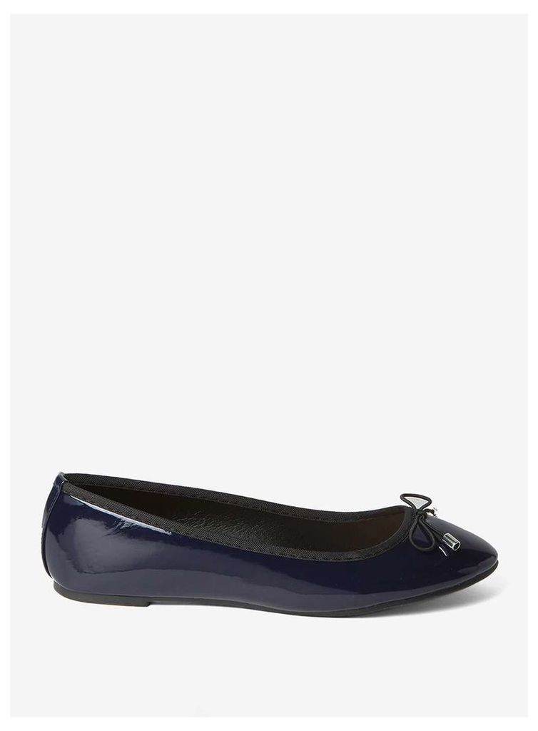 Womens Navy Patent 'Pandora' Pumps- Blue