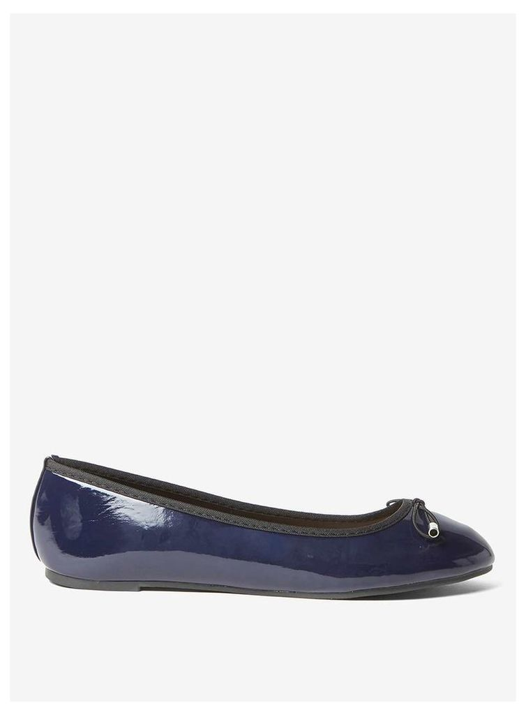 Womens Wide Fit Navy 'Pandora' Pumps- Blue