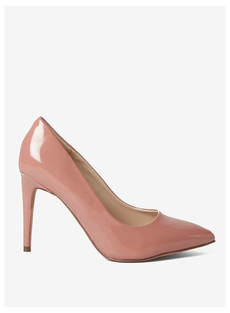 Womens Wide Fit Rose 'Emily' Court Shoes- Pink