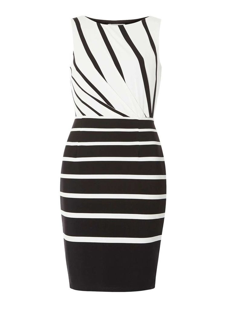 Womens **Lily & Franc Pleat Bodycon Dress- Fl Multi
