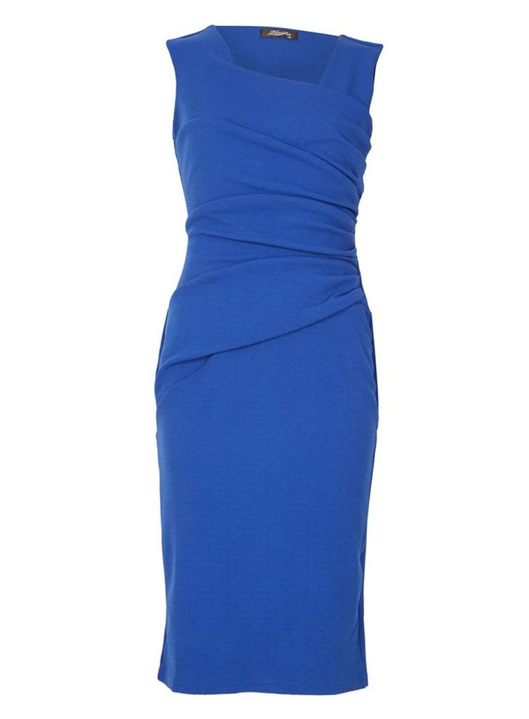 Womens *Feverfish Royal Blue Bodycon Dress- Blue