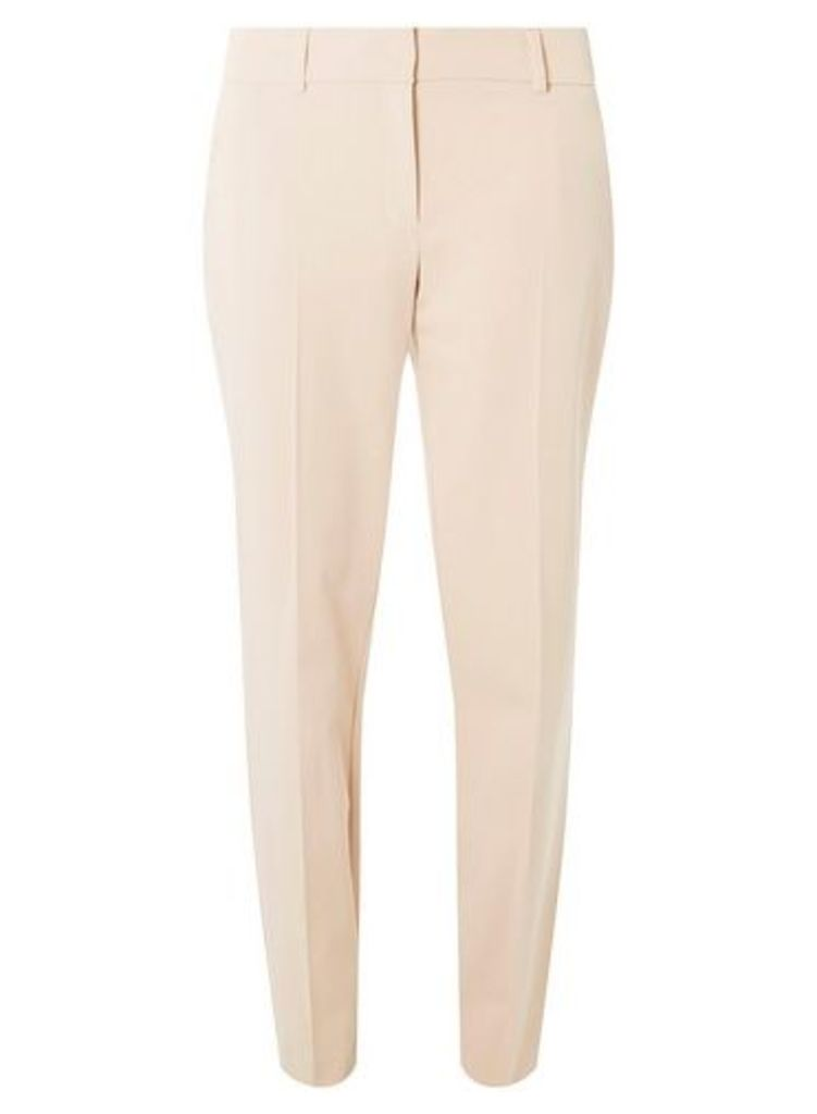 Womens **Tall Blush Split Hem Ankle Grazer Tailored Fit Trousers- Pink