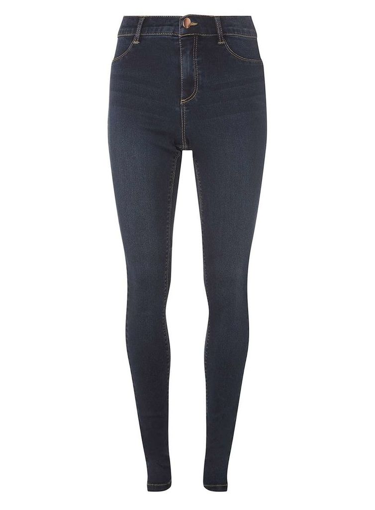 Womens **Tall Indigo 'Frankie' Skinny Fit Jeans- Blue