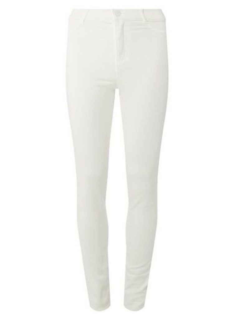 Womens **Tall White 'Frankie' Skinny Fit Jeans- White