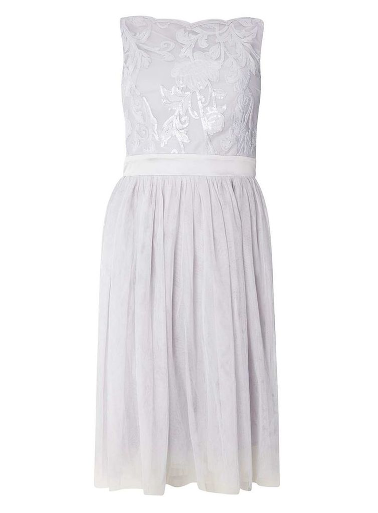 Womens **Showcase Grey 'Helena' Prom Dress- Grey