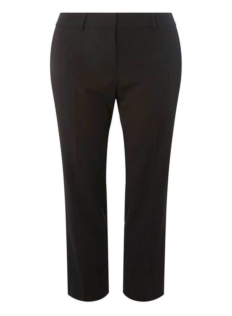 Womens DP Curve Plus Size Black Ankle Grazer Trousers- Black