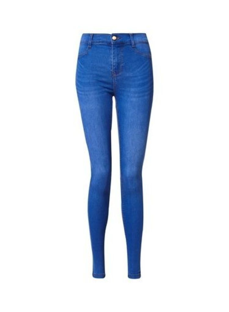 Womens Bright Blue 'Frankie' Super Skinny Jeans- Blue