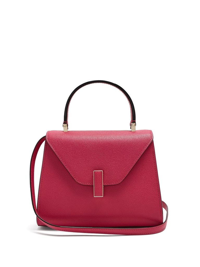 Iside mini grained-leather bag