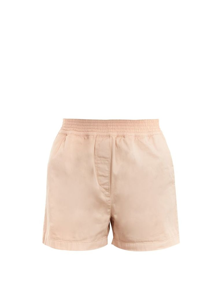 Marit high-rise cotton shorts