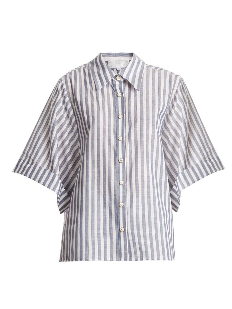 Marta stripe-print cotton shirt