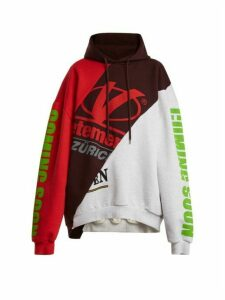 Vetements - Deconstructed Hooded Sweatshirt - Womens - Multi
