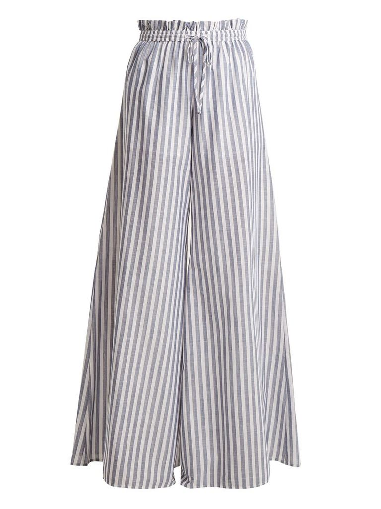 Striped paperbag-waist trousers