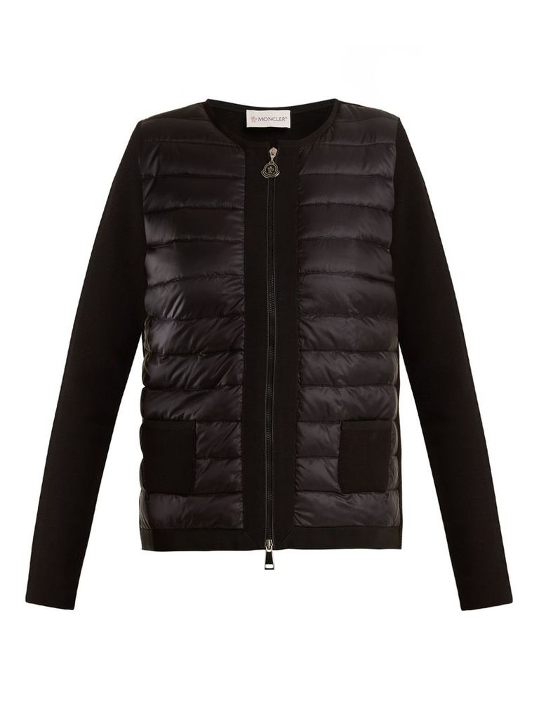 Maglia quilted down and jersey jacket